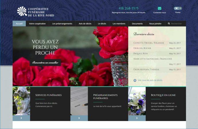 Portfolio etude de cas. Exemple de site web et de commerce électronique.