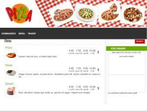systeme de commande en ligne et de livraison pour restaurant et pizzeria.